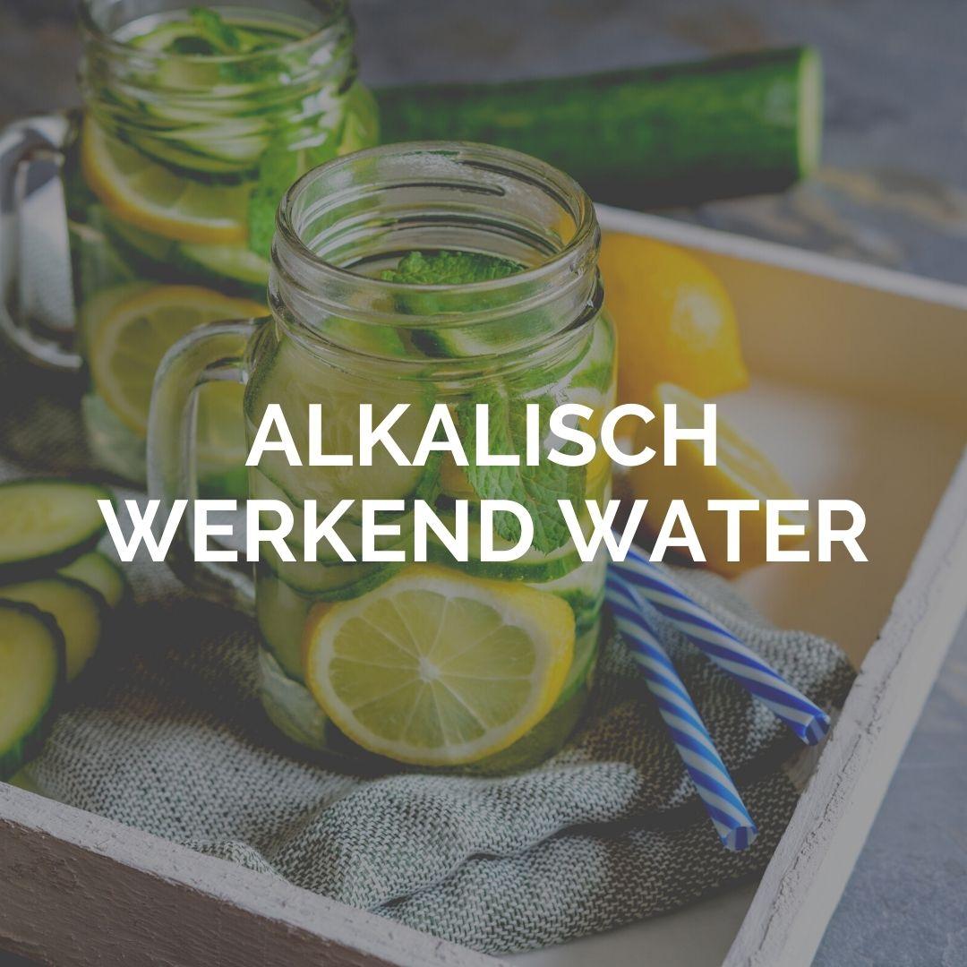 Alkalische werkend water