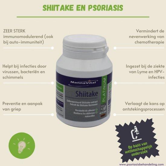 Gefermenteerde shiitake en psoriasis immunomodulerend