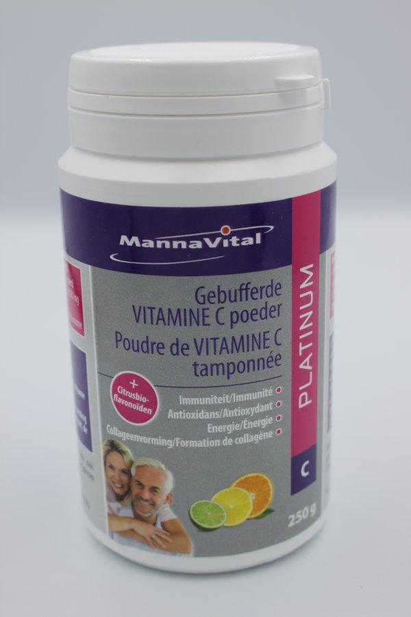Pot gebufferd vitamine C poeder tamponnee