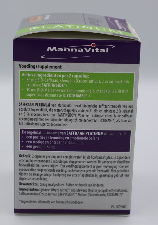 Saffraan capsules kopen Mannavital