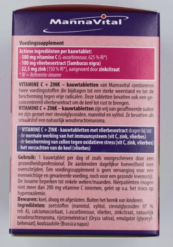 Vitamine C met zink vlierbes kauwtabletten kopen