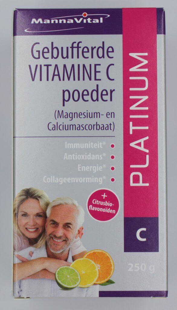 Voedingssupplement gebufferd vitamine C poeder