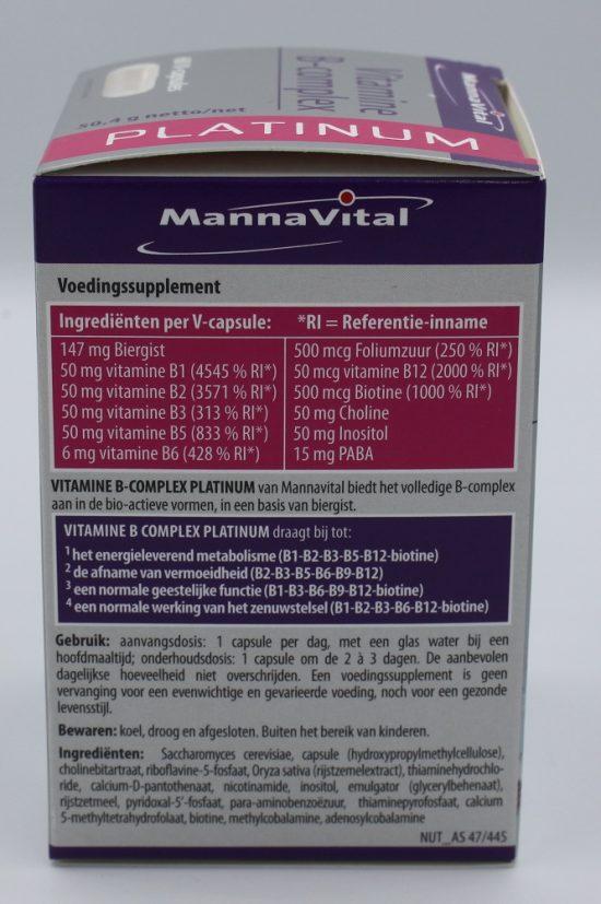 Ingrediënten vitamine B complex