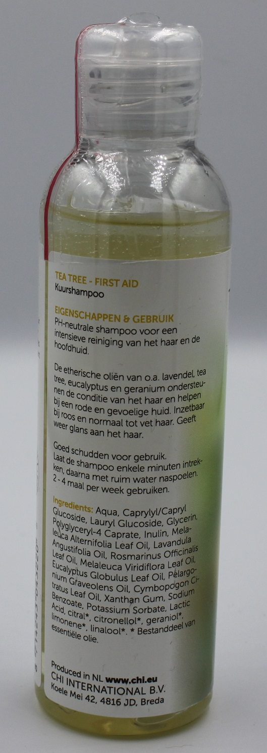 Pure tea tree shampoo achterkant