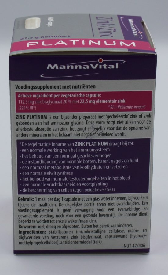 Zink immuniteit Mannavital kopen