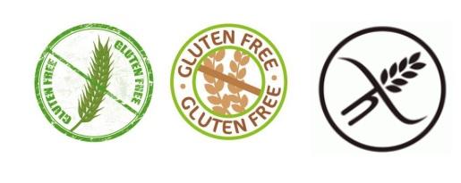 Glutenvrij dieet met deze logo's